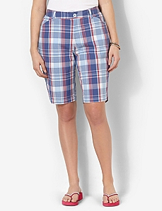 Plaid Bermuda Short by CATHERINES
