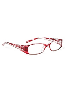 Floral Etch Reading Glasses