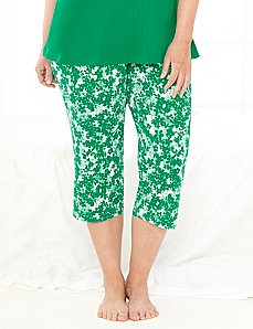 Be Yourself Floral Sleep Capri by CATHERINES