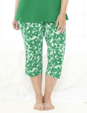 Be Yourself Floral Sleep Capri