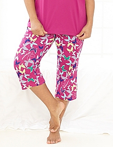 Be Yourself Butterfly Sleep Capri by CATHERINES