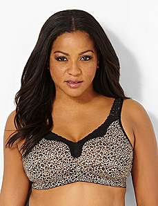 Leopard No-Wire Cotton Comfort Bra