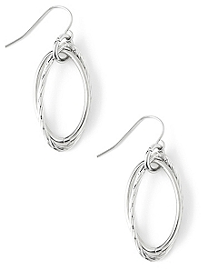 Etch Oval Earrings