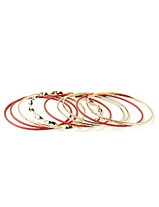 Wire Edge Bangle Set by CATHERINES