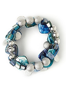 Glitter Shell 3-Piece Bracelet Set