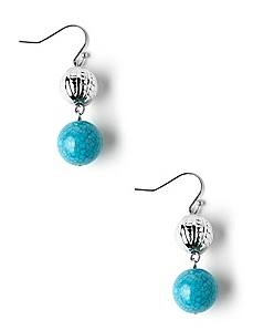 Bead & Capsule Earrings