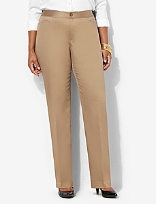 Cotton Sateen Pant by CATHERINES