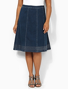 Denim Glow Skirt