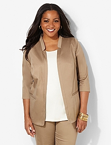 Cotton Sateen Jacket by CATHERINES