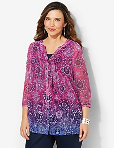 Ombre Medallion Top