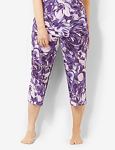 Floral Delight Sleep Capri by CATHERINES