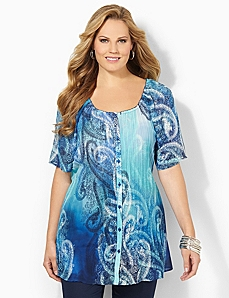Offshore Pleated Tunic