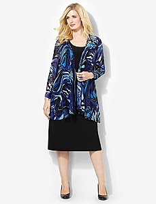 Paintswirl Jacket Dress by CATHERINES