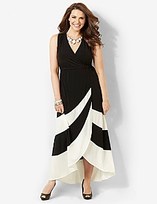 Striped Noir Maxi by CATHERINES