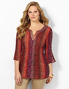 Electric Leopard Blouse
