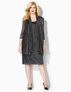 Shimmer Glitz Jacket Dress by CATHERINES