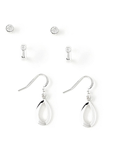 Infinity 3-Pair Earring Set