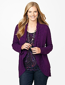 Pointelle Cocoon Cardigan