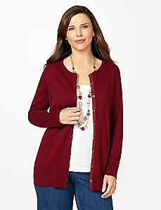 Snap-Front Cardigan