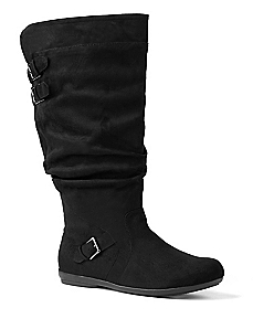 Ruched Sueded Boot