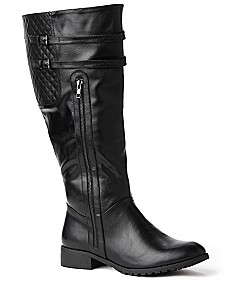 Quilted-Back Boot
