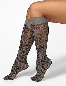 Leopard Trouser Socks