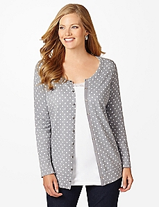 Polka Dot Essential Snap Cardigan