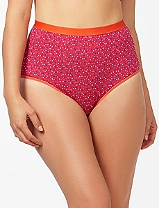 Orange Blossom Colordot Cotton Full Brief