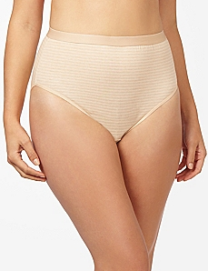Pick Stitch Cotton Hi-Cut Brief