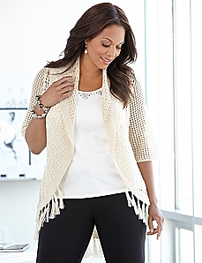 Fall Fringe Cardigan