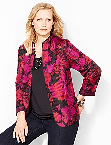 Floral Herringbone Reversible Jacket