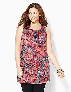 Flowerscape Sleeveless Top