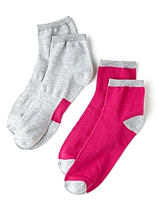 Active Solid & Stripes 2-Pack Socks