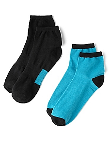 2-Pack Active Solid & Stripes Socks