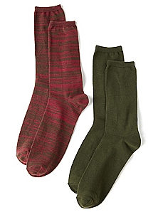 Solid & Space Dye 2-Pack Socks