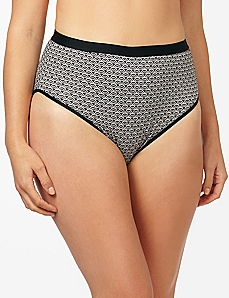 Scalloped Cotton Hi-Cut Brief
