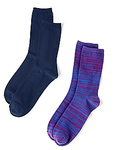 Stripe & Solid 2-Pack Socks