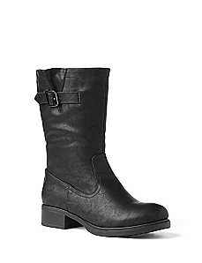 Sleek Buckle Bootie