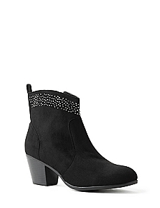 Sueded Sparkle Bootie