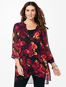 Midnight Blooms Blouse