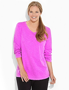 Long-Sleeve Basic Brights Tee