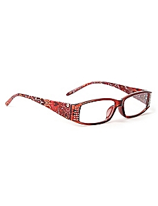 Glittering Paisley Reading Glasses