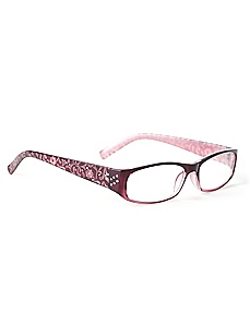 Engraved Floral Reading Glasses