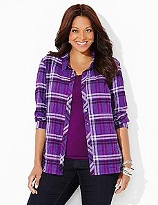 Plaid Buttonfront