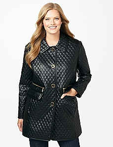 Quilted Diamond Coat