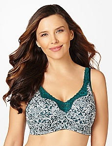 Jacquard No-Wire Cotton Comfort Bra