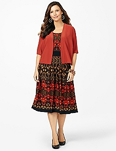 Autumn Splendor Dress & Shrug