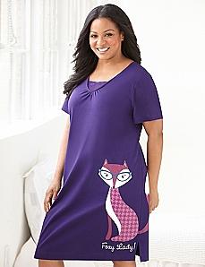 Foxy Lady Lace Peekaboo Sleepshirt