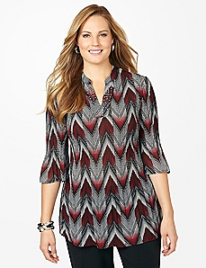 Chevron Pleated Tunic
