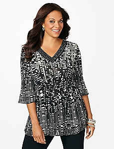 City Lights Pleated Tunic